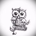 Eule Tattoo Skizze für Mädchen 1