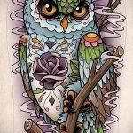 Eule Tattoo Skizzen amerikanische 1
