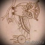 Eule und Traumfänger tätowieren Skizze 1