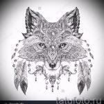 Fuchs Tätowierung auf der Hand skizziert - siehe Bilder 25,04-2.016 3