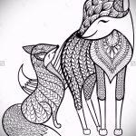 Fuchs Tätowierung auf der Hand skizziert - siehe Bilder 25,04-2.016 5