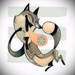 Fuchs Tattoo auf dem Bein Designs - siehe Bilder 25,04-2.016 3