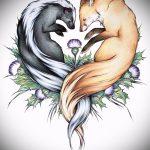 Fuchs Tattoo auf dem Bein Designs - siehe Bilder 25,04-2.016 5