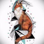 Fuchs Tattoo auf dem Bein Designs - siehe Bilder 25,04-2.016 7