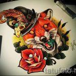 Fuchs Tattoo farbigen Skizzen - siehe Bilder 25,04-2.016 2