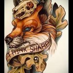 Fuchs Tattoo farbigen Skizzen - siehe Bilder 25,04-2.016 3
