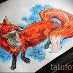 Fuchs Tattoo farbigen Skizzen - siehe Bilder 25,04-2.016 5
