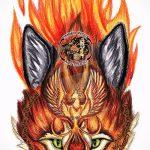 Fuchs Tattoo farbigen Skizzen - siehe Bilder 25,04-2.016 6