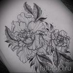 Rose Tattoo Schwarz-Weiß-Skizzen 1