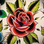 Rose alte Schule Tattoo-Designs - suchen cool Tapete 1