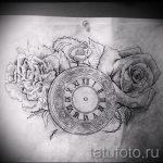 Rose tatouage croquis noir et blanc 1