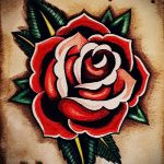 Rose vieilles conceptions de tatouage de l'école - à la recherche cool fond d'écran 1