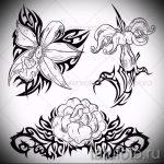 Skizze der Tattoo-Blumen auf der Hand - Zeichnungen auf 26-04-2016 1