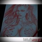 Skizze der Tattoo-Chicano Mädchen 1