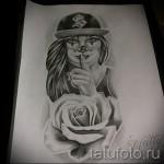 Skizze der Tattoo-Chicano Mädchen 2