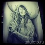 Skizze der Tattoo-Chicano Mädchen 3