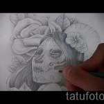 Skizze der Tattoo-Chicano Mädchen 5