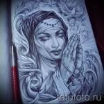 Skizze der Tattoo-Chicano Mädchen 6