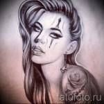 Skizze der Tattoo-Chicano Mädchen 8