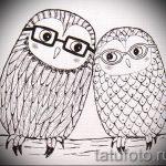 Skizze der Tattoo-Eule auf der Hand 4