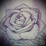 Skizze der Tattoo-Rose auf der Hand - cool Tapete zu sehen 1