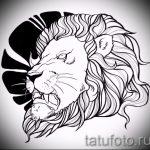 Skizze einer Tätowierung eines Löwenkopf - Bilder für Tätowierungen von 29042916 1