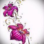 Skizzen Tattoo Blumen auf der Seite - Bilder von 26-04-2016 1