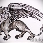 Skizzen Tattoo Löwe mit Flügeln - Tattoo Bilder von 29042916 1