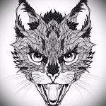 Skizzen Tattoo schwarz Fuchs - siehe Bilder 25,04-2.016 4