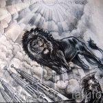 Skizzen eines Löwen-Tattoo auf dem Rücken - Bilder für Tätowierungen von 29042916 1