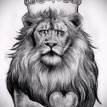Skizzen eines Löwen-Tattoo auf der Hand - Zeichnungen für Tätowierungen von 29042916 1
