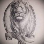 Skizzen eines Löwen Tattoo auf seinem Bein - die Zeichnungen für Tätowierungen von 29042916 1