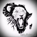 Tattoo-Designs Löwe an der Wade - Bilder für Tätowierungen von 29042916 1