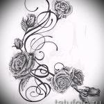 Tattoo-Designs stieg auf der Seite - cool Tapete zu sehen 1