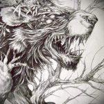 conceptions de tatouage lion sourire sur ses épaules - images pour les tatouages de 29042916 2