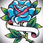 croquis de bleu de tatouage rose - pour regarder cool fond d'écran 1