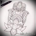 croquis de fleurs de tatouage sur la main - dessins sur 26-04-2016 2