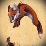 croquis de tatouage fox - voir photos 25.04-2016 2