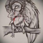 croquis de tatouage hibou pour les filles 2