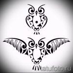croquis de tatouage hibou sur la main 1