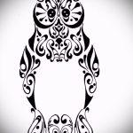 croquis de tatouage hibou sur la main 2