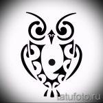 croquis de tatouage hibou sur la main 3