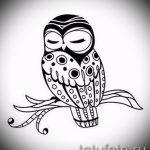 croquis de tatouage hibou sur la main 4