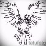 croquis de tatouage hibou sur la main 5