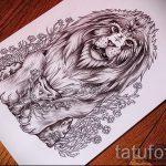 croquis de tatouage lion avec plumes - images pour les tatouages de 29042916 2