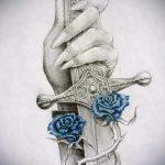 croquis de tatouage rose sur la main - pour regarder cool fond d'écran 1
