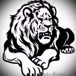 croquis d'un tatouage de lion sur sa jambe - les dessins pour les tatouages de 29042916 1