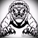 croquis d'un tatouage de lion sur sa jambe - les dessins pour les tatouages de 29042916 2