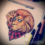 croquis d'un tatouage de lion sur sa jambe - les dessins pour les tatouages de 29042916 3