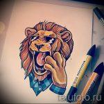 croquis d'un tatouage de lion sur sa jambe - les dessins pour les tatouages de 29042916 4